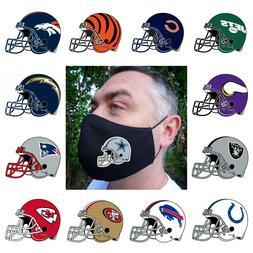 Footbal Sport Team Helmet Logo Mask Reusable Washable 100% D