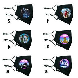 Fortnite Face Mask Adjustable 2Filters Washable Masks Fashio
