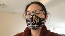 Golden Knights Washable face mask with filter adjustable  el