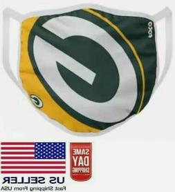 Green Bay Face Mask. Washable & Cotton NFL Football Team NEW