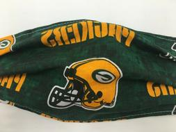 Green Bay Packers Face Mask Football NFL Reusable Washable D
