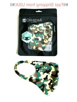 Green Camouflage Mask Unisex. Great for Hunting or Every Day