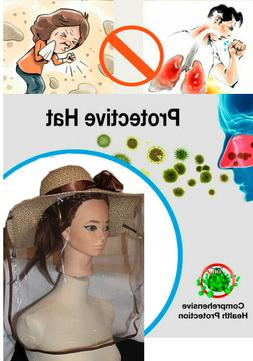 Hat with Transparent Mask Protective Cap Anti-fog Saliva Win