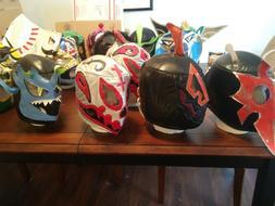 Huge Chikara Wrestling Masks Lot Many Signed Ants Mantis Wic