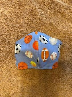 KIDS Boys Face Mask New handmade Washable Reusable Reversibl