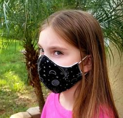 KIDS SIZE 2-17Y Fashion Colorful Cotton Masks Face Mouth Cov
