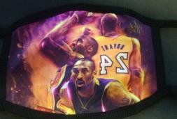 Kobe Bryant  Face Mask. BLACK MAMBA , #24  Mamba Never Out.
