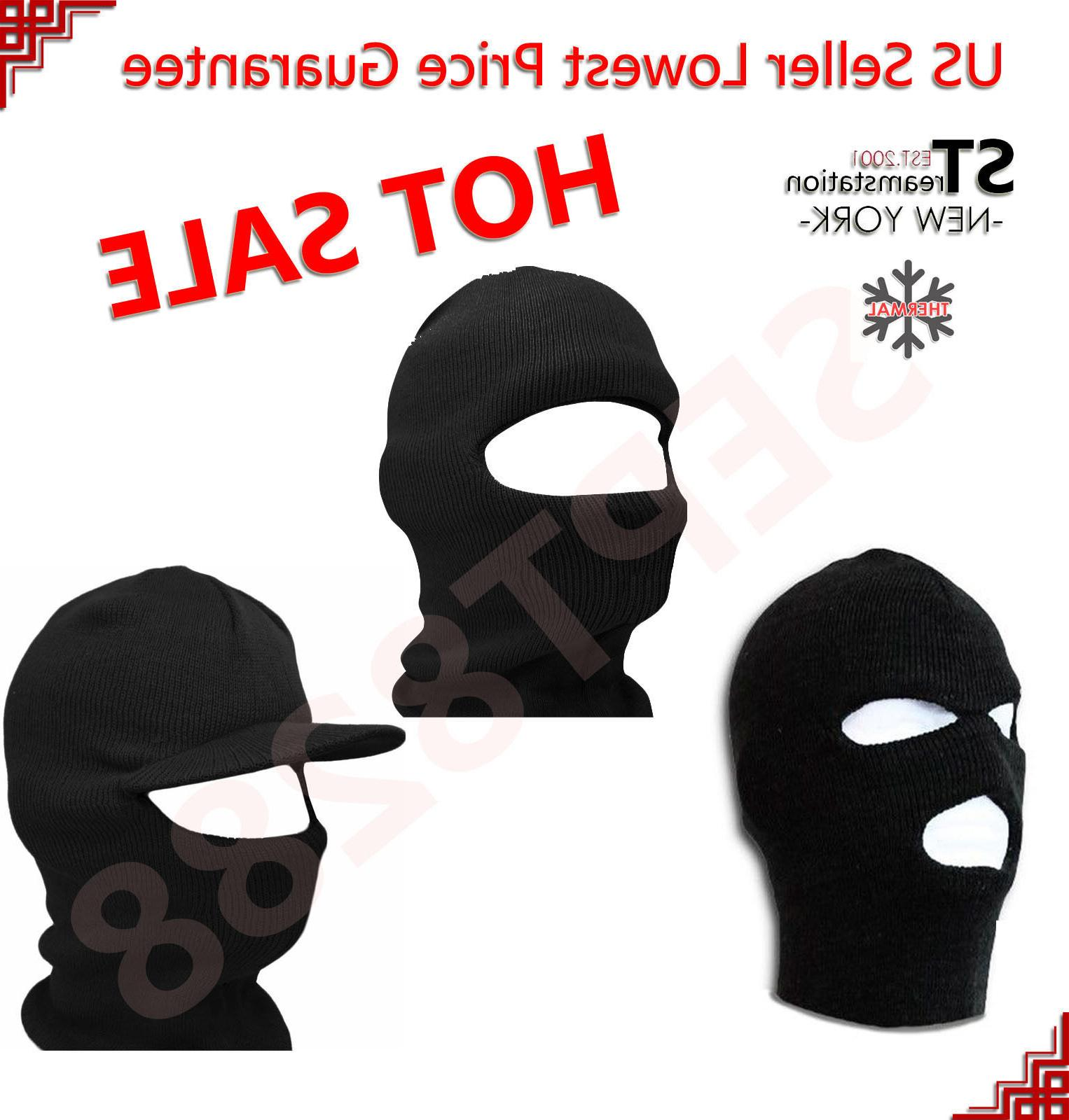 1 and 3 hole thermal face mask