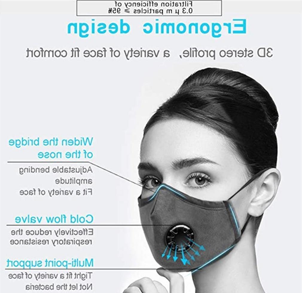 100% Cloth Mask Reusable 2.5 Filter