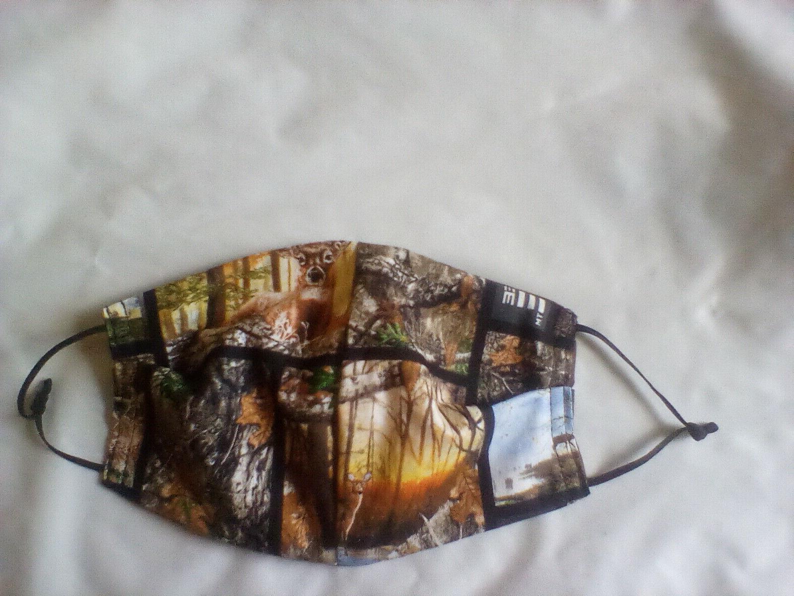 100 percent cotton hunting theme face mask