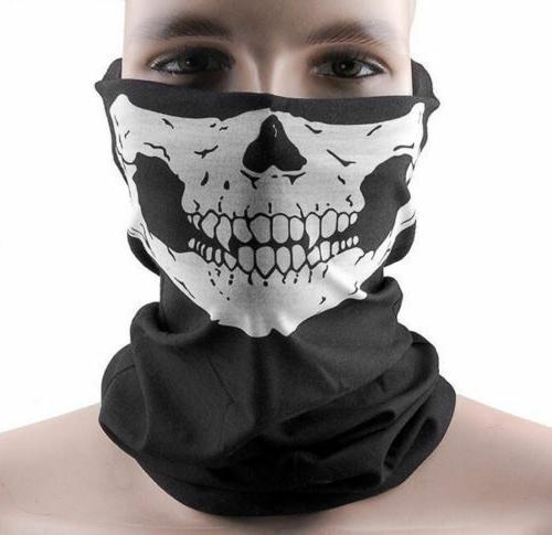 5 Ghost Biker Hood Mask Ski Balaclava Helmet