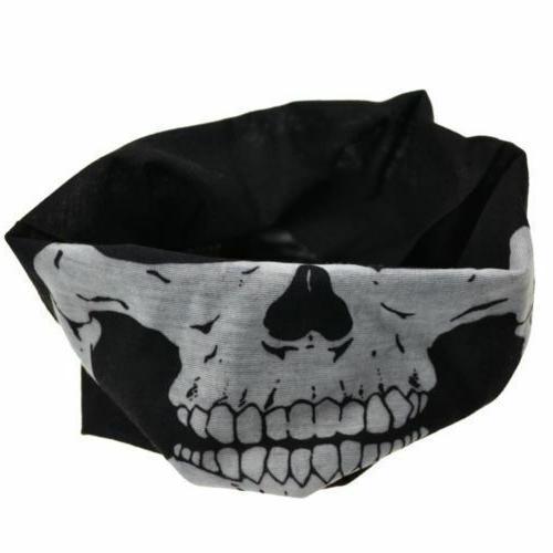 5 Biker Skull Hood Face Ski Helmet