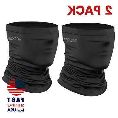 2 pack neck gaiter black face mask