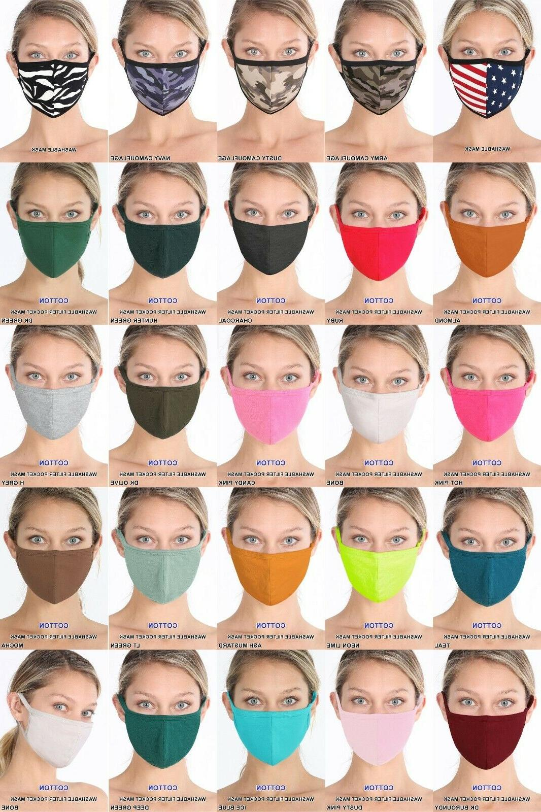 3 6 12 washable fashion mask cotton