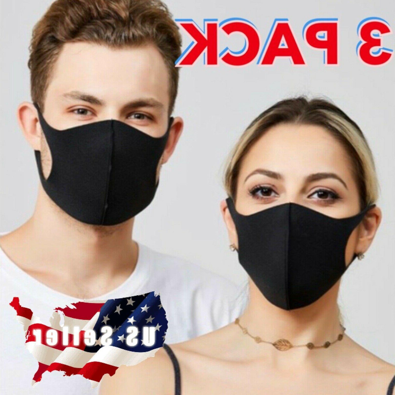 3 pack face mask reusable washable protective