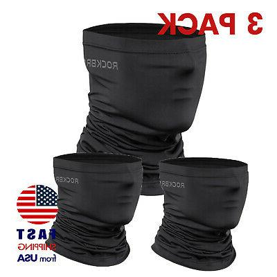 3 pack neck gaiter black face mask