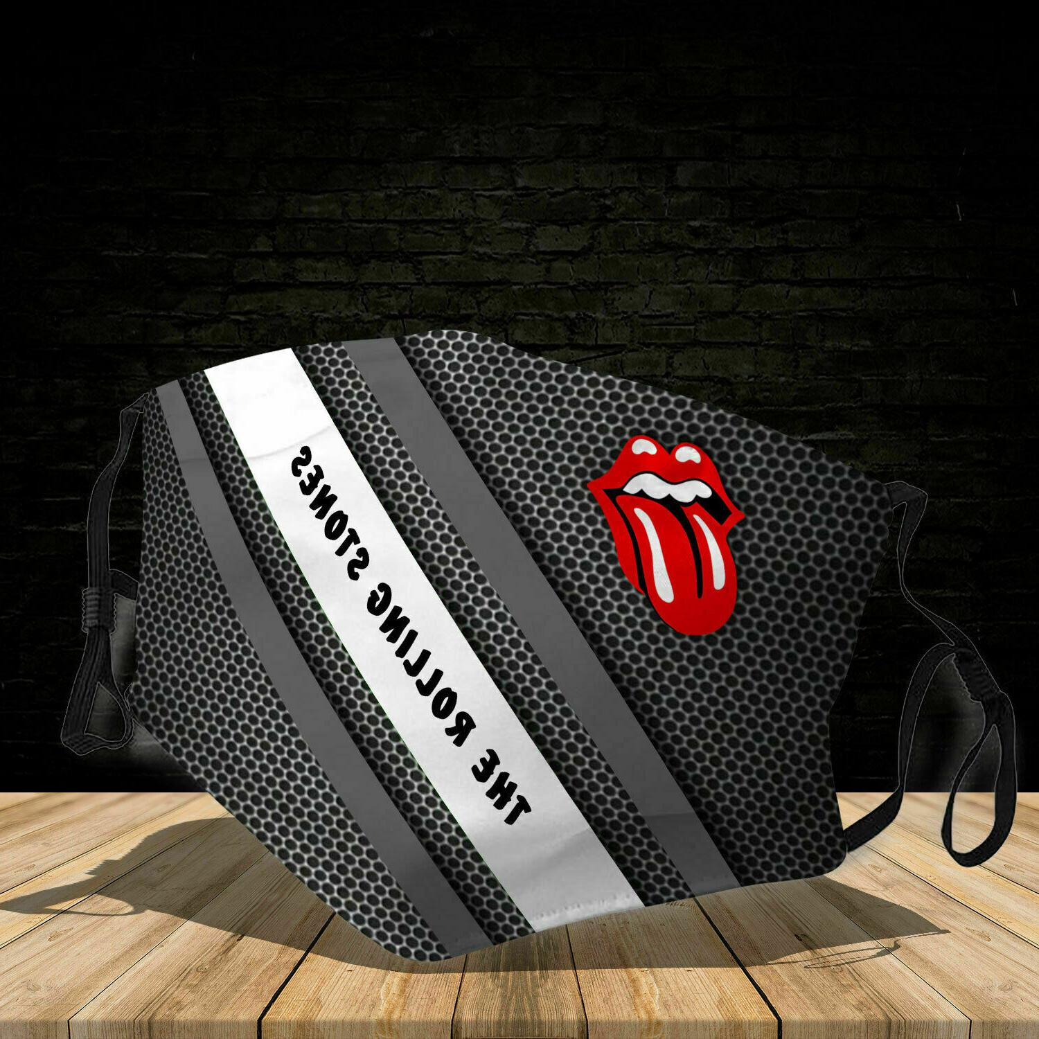 3d face mask the rolling stones cotton