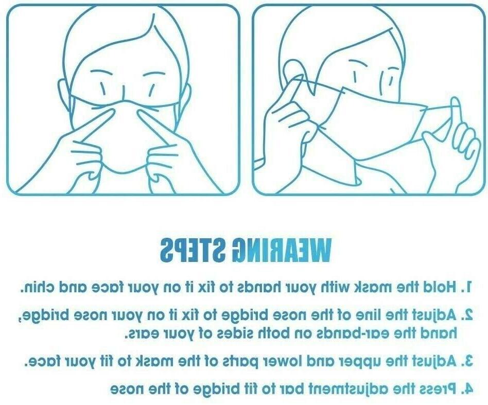 50/100 PCS Face Protector Masks USA Seller