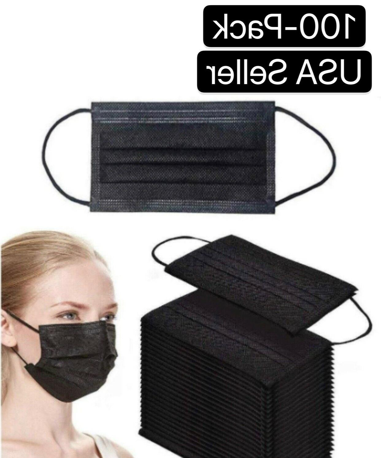 50 100 pcs black face mask mouth