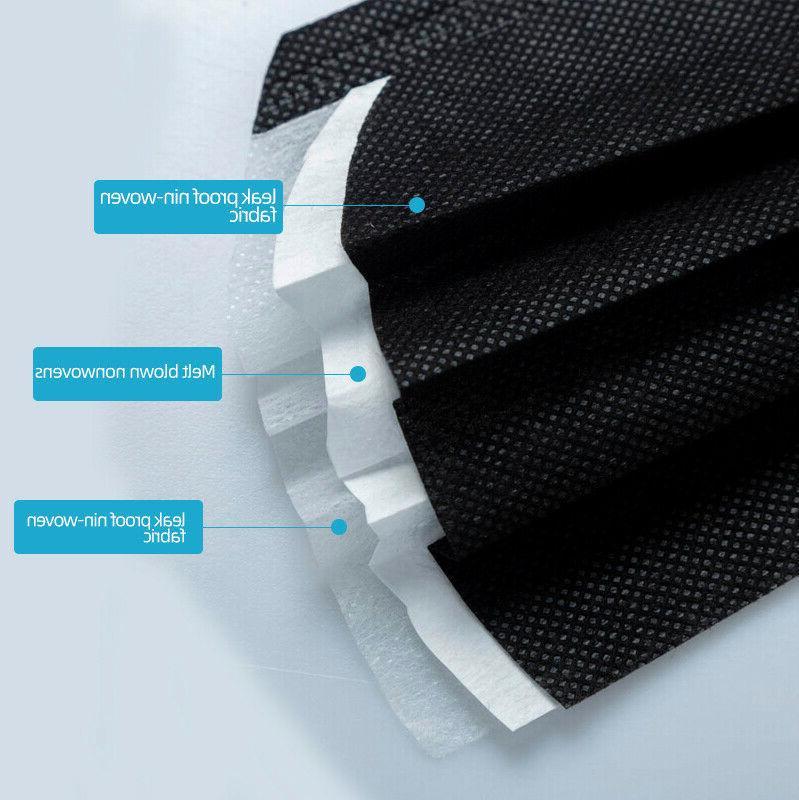 50 BLACK Mask Mouth Nose Protector Masks Filter