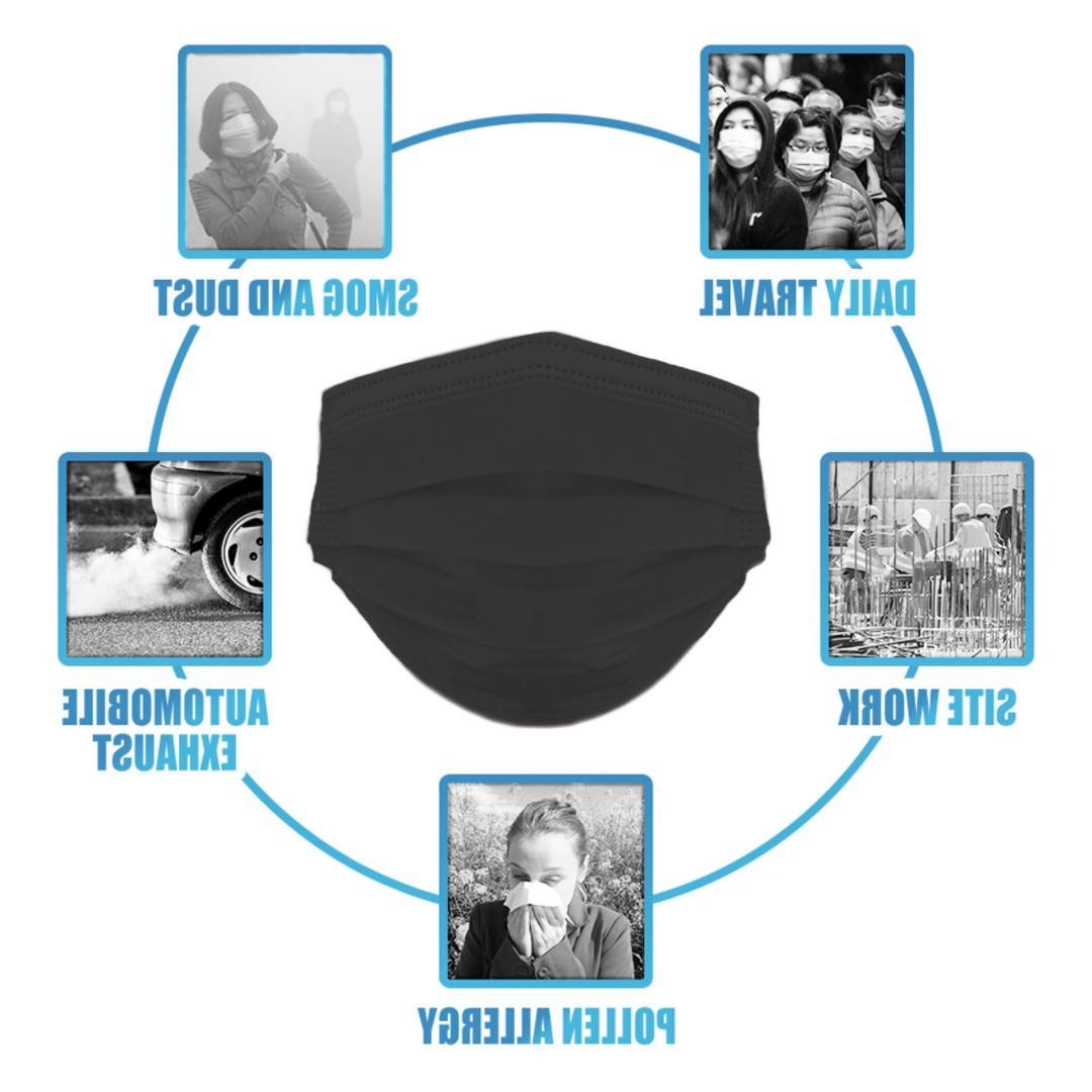 Black Unisex Reusable Cover Masks Fashion Men Women