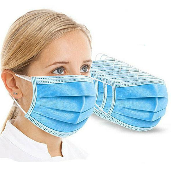 50 PCS Face Mouth & Nose Respirator with Blue