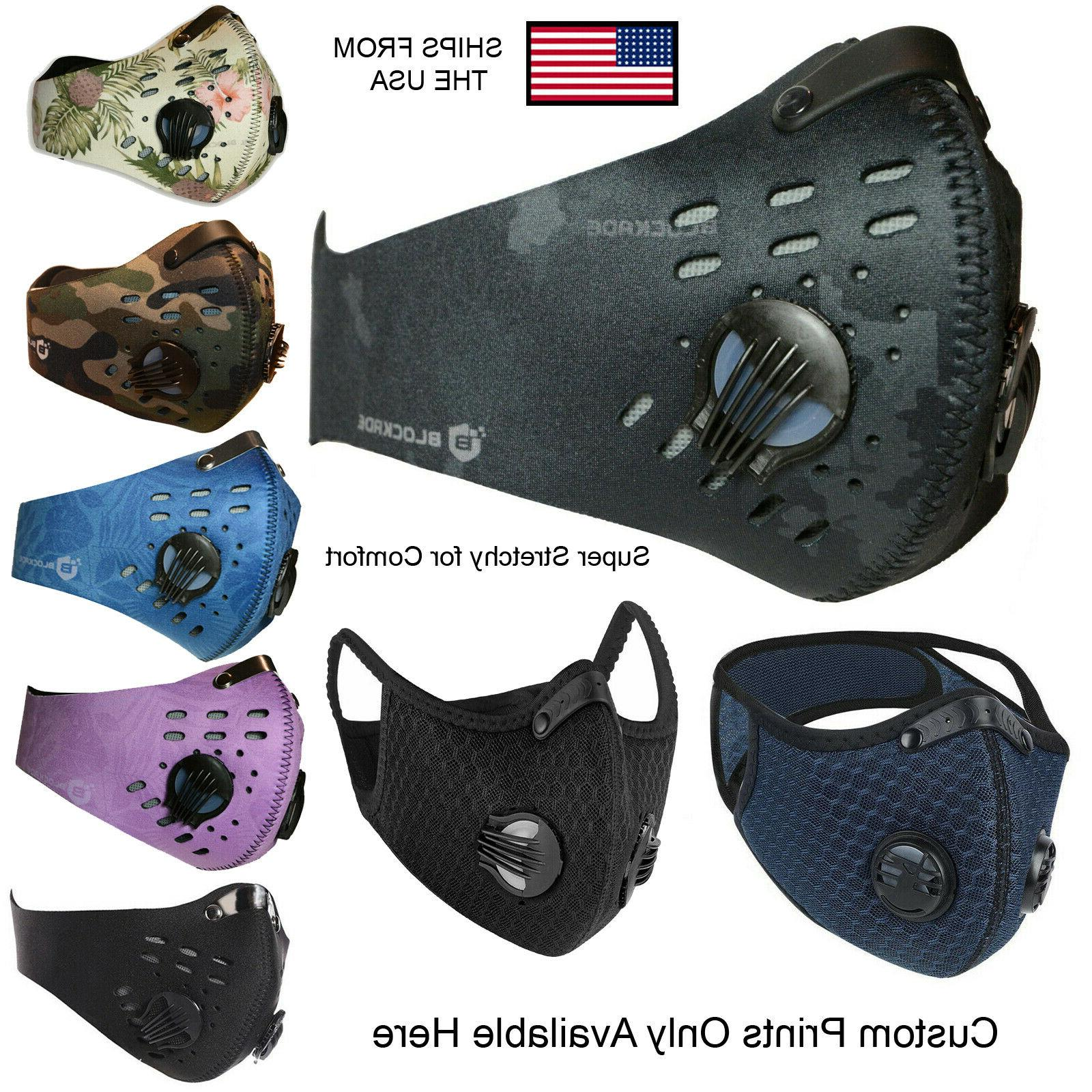 activated carbon face mask shield with filter