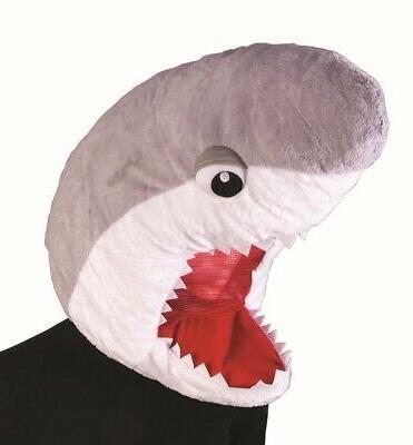 adult child mascot head great white doo