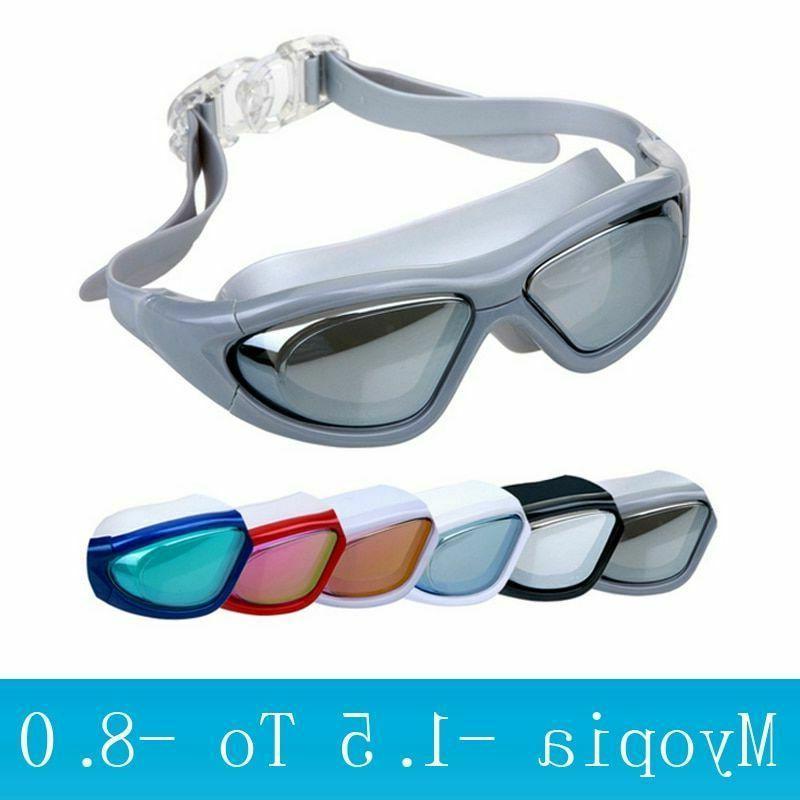 Adult Swimming Goggles Diving Mask Anti-fog Big Frame