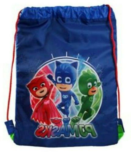 authentic boys drawstring sports trainer bag blue