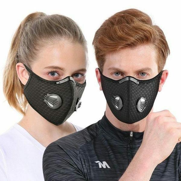 Black Dual Air Face Mask Filter