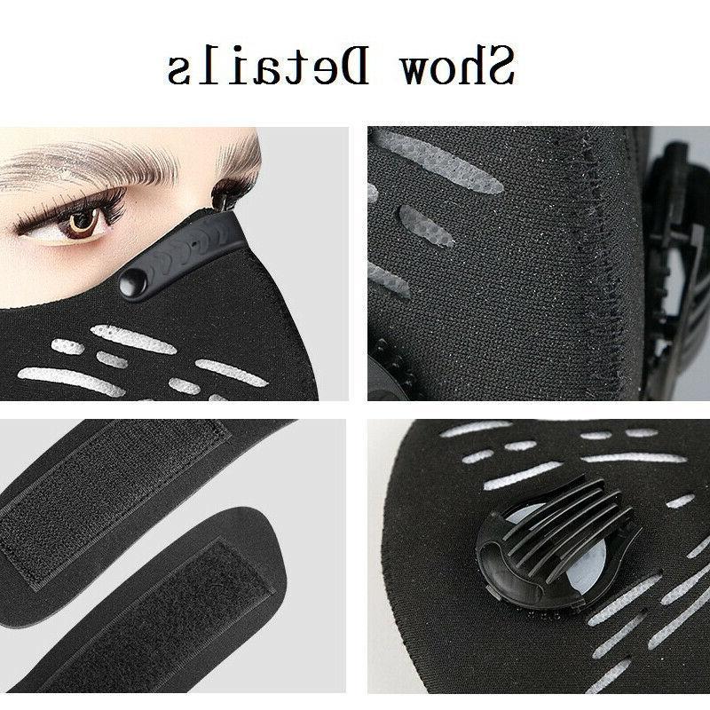 Black Valve Sport Mask Cover PM2.5 Filter