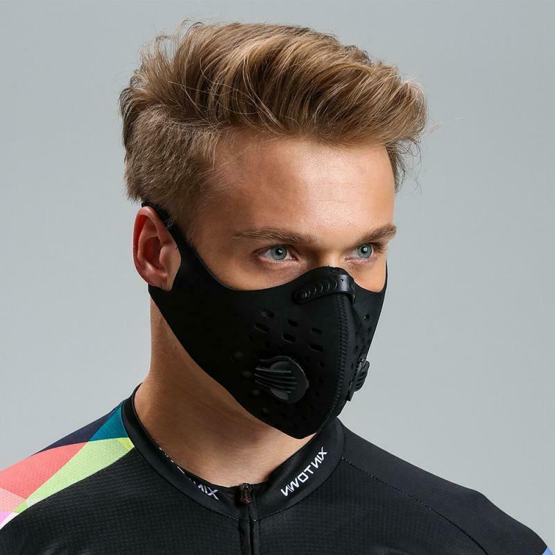 Black Reusable Valve Cycling Sport Face Filter
