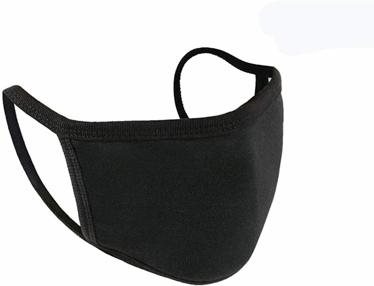 Black Washable Cotton Mask Unisex 5 Pieces 100%