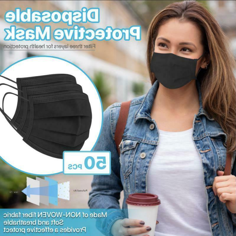 black unisex face mask reusable washable cover