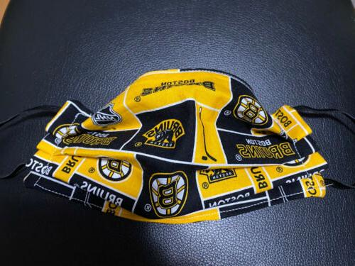 boston bruins yellow face mask washable reusable