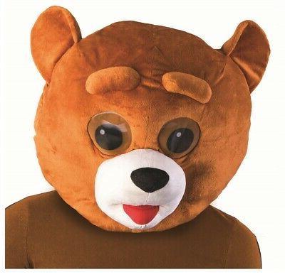 brown bear mascot animal head mask school