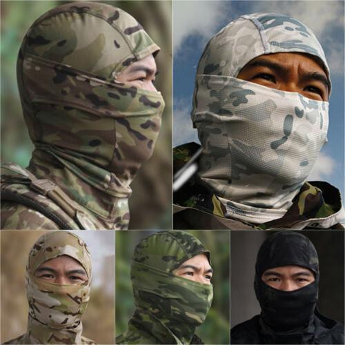 camo balaclava hat full face mask military