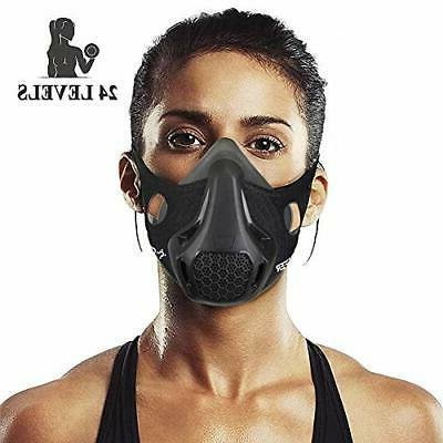 chriffer workout mask with 24 breathing resistance