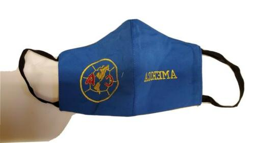 club america fabric washable face mask embroidered