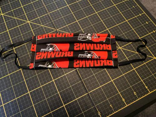 cotton double sided nfl football cleveland browns