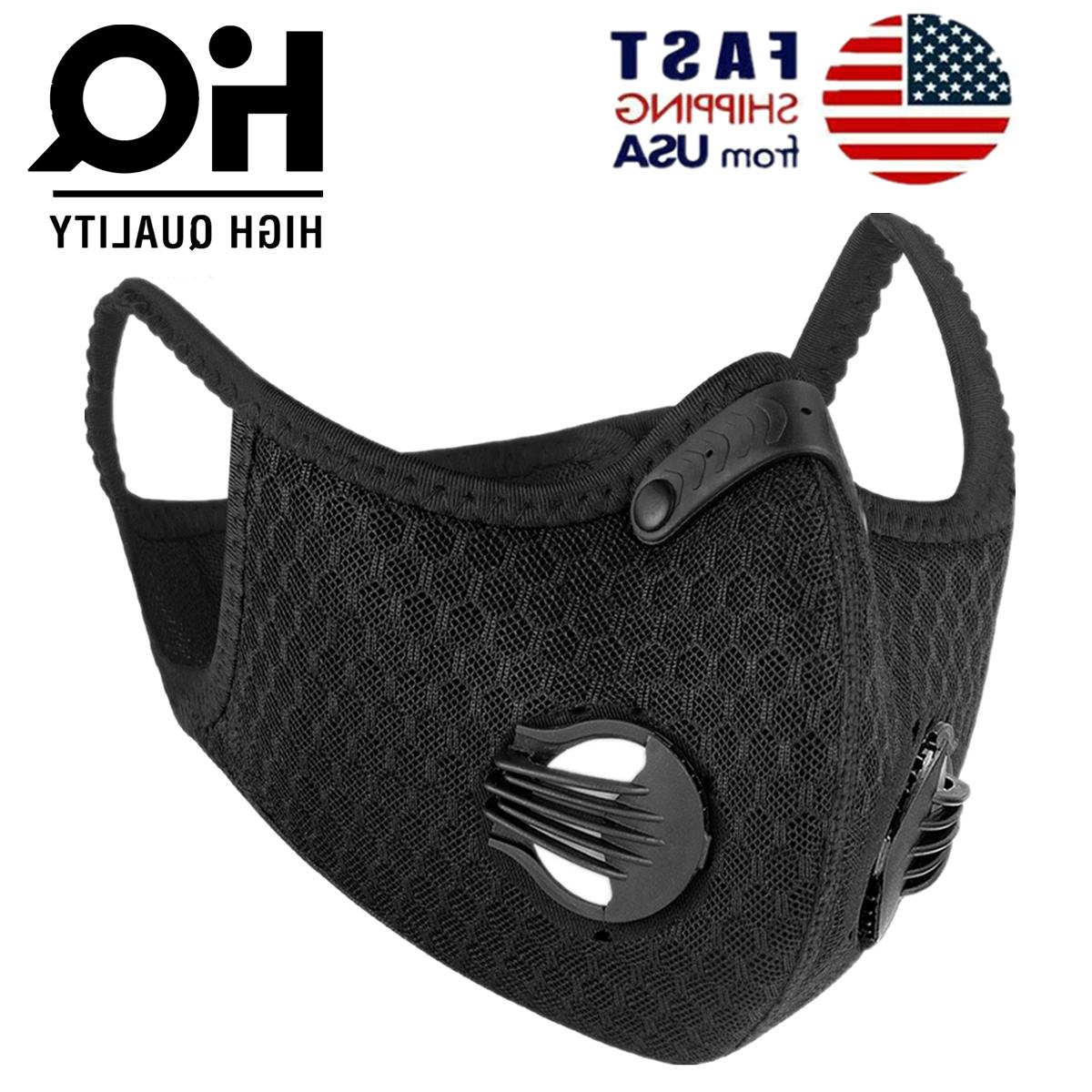 cycling face mask active carbon filter breathing