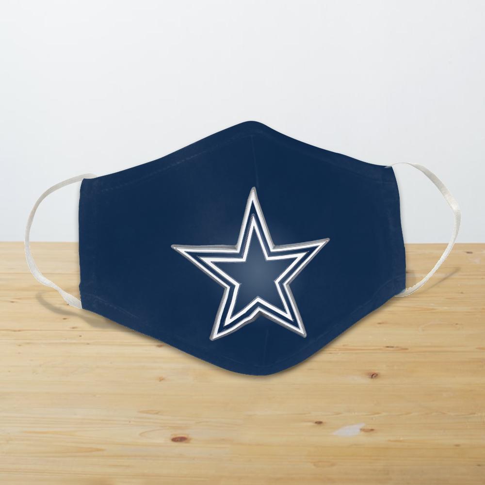 dallas cowboys star reusable cloth face mask