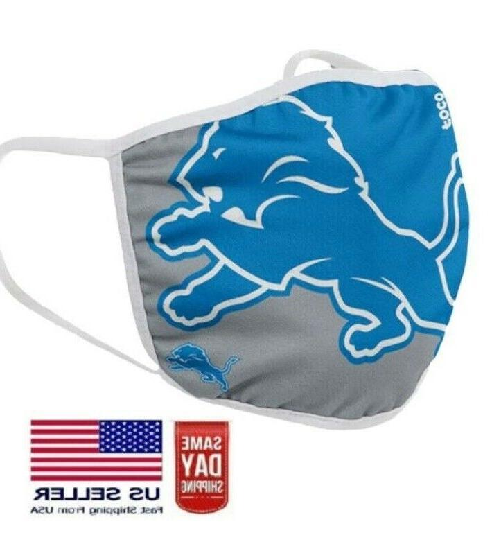 detroit lions face mask washable filter slot