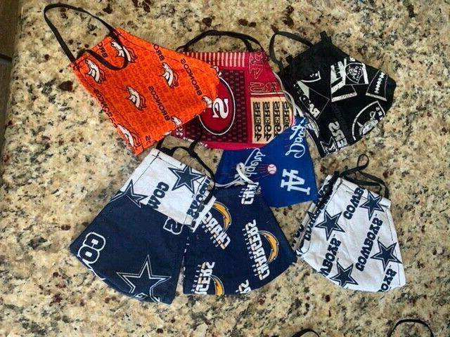 dodgers sports face mask triple layered