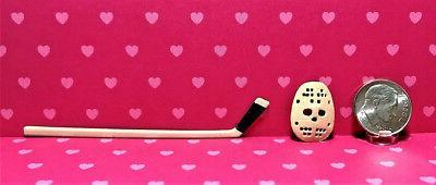 dollhouse miniature sports hockey set 1 12