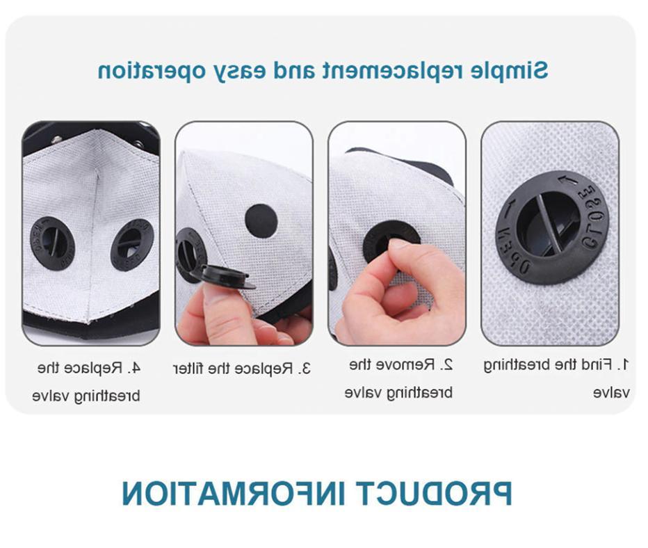 Mesh Sports Mask Filter Breathing Valves