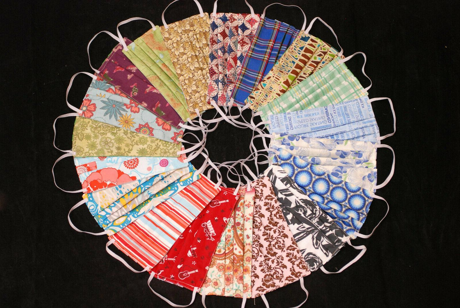 face mask cotton washable reuseable fabric cloth