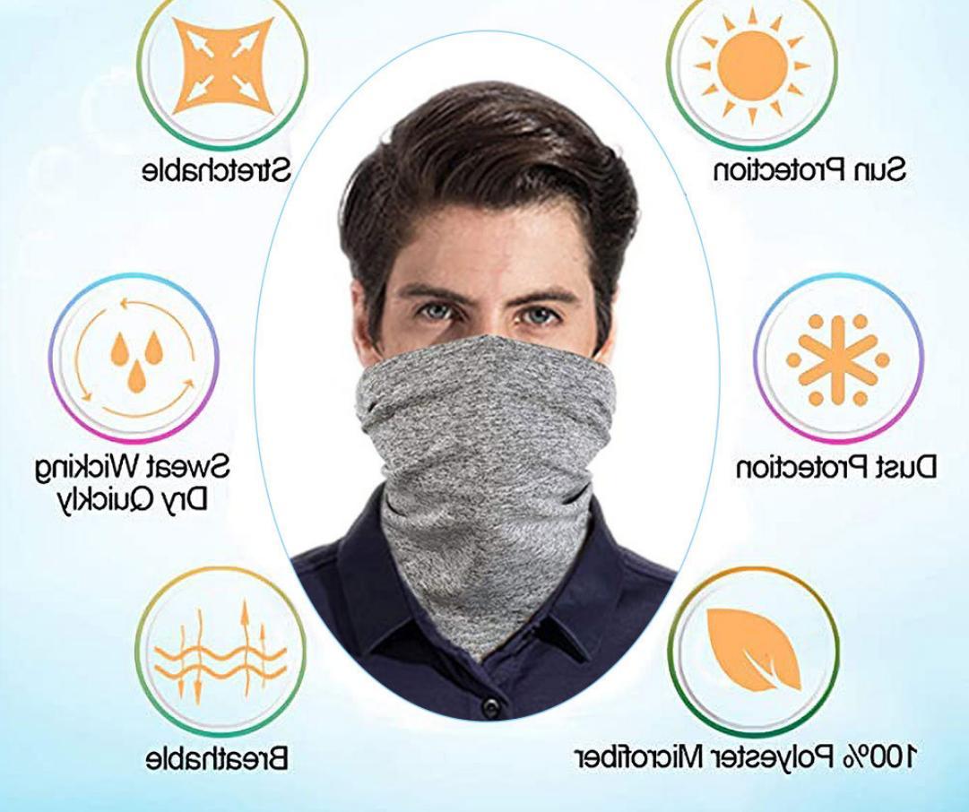 MultiUse Mask Cover Cooling Bandana Headband Scarf 2.5 Filter