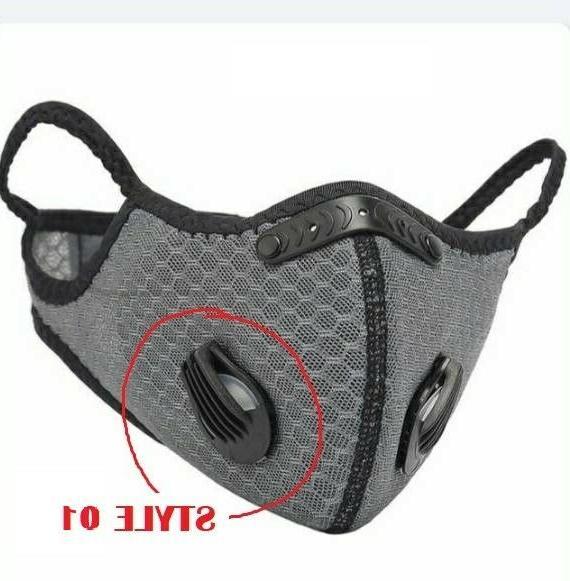 Face Breathing Masks Vents Filter